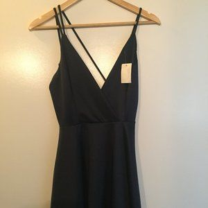Dark Blue Small Charlotte Russe Strappy Back Dress